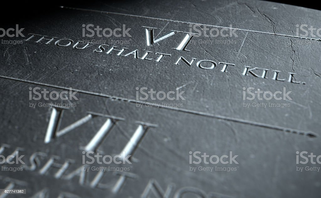 The Sixth Commandment stock photo