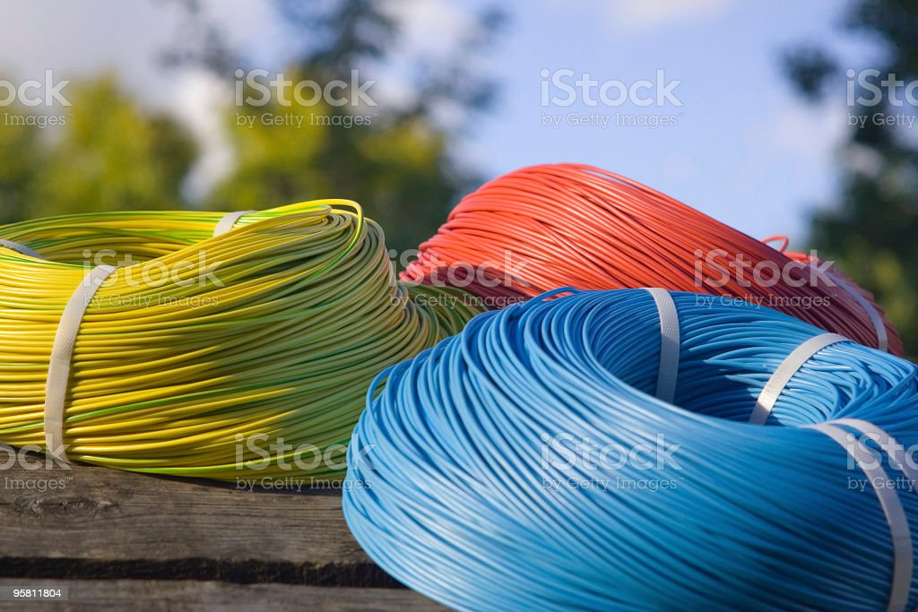 the skeins of cable royalty-free stock photo