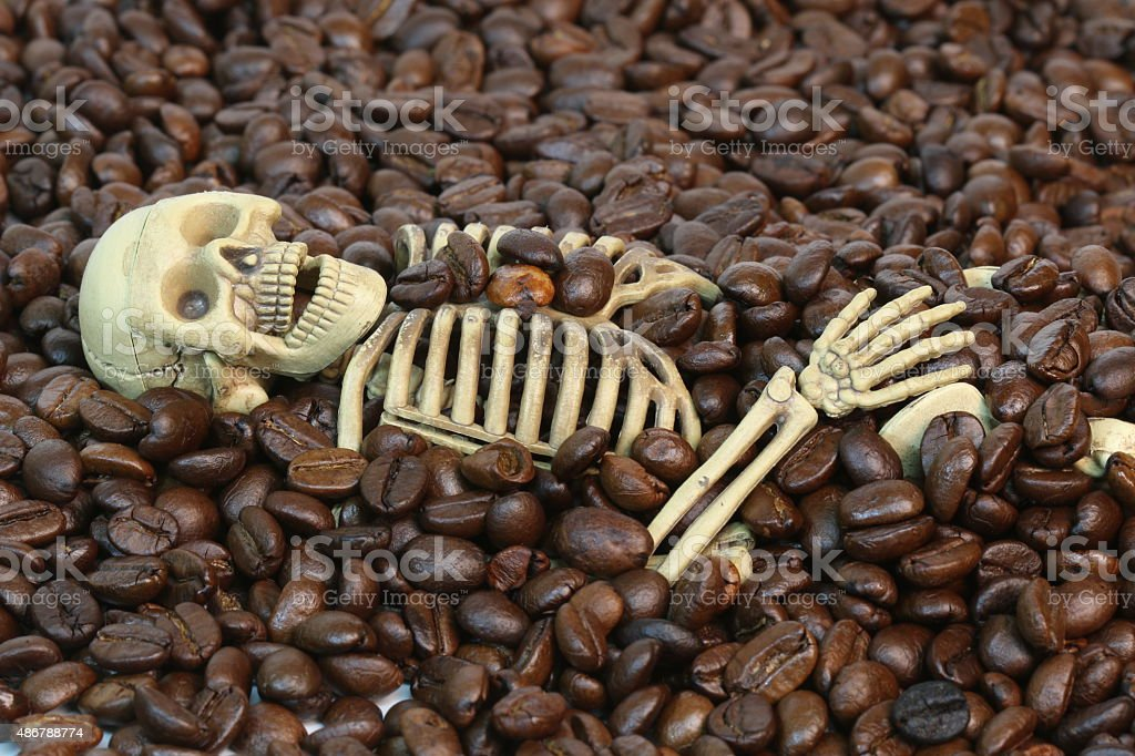 The Skeleton Was Buried In Coffee Beans Stock Photo & More Pictures ...