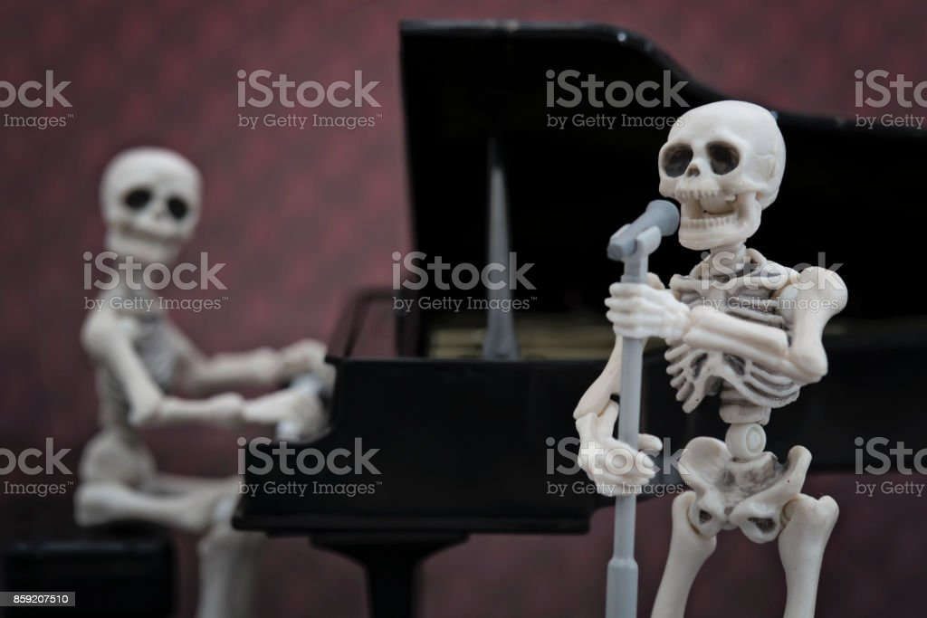 The skeletons band stock photo