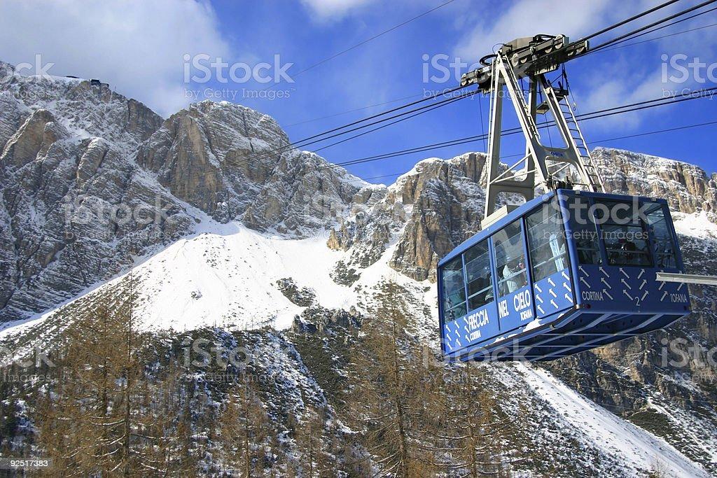 the ski area royalty-free stock photo