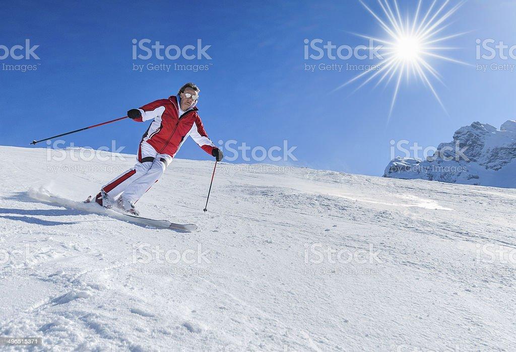 The skier stock photo