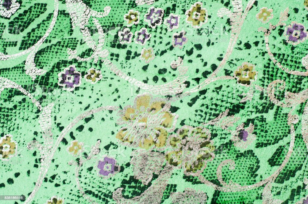 The skin texture, green color patterned stock photo