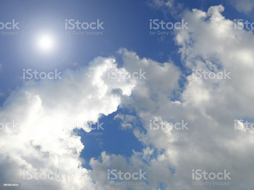 The sky background,reflection of sunlight is shining pass through waving cloud,blurry light smoky cloud,beauty by nature,beauty high view royalty-free stock photo