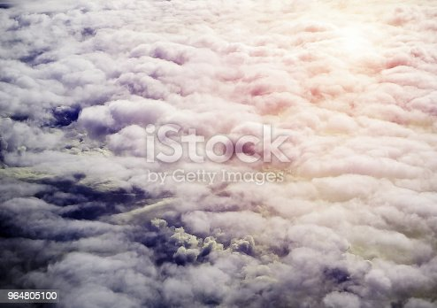 The Sky Bakground In Morning Timereflection Of Sunlight Is Shining To Smoky Waving Cloudbeautiful Top Viewbeauty By Nature Stock Photo & More Pictures of Atmosphere