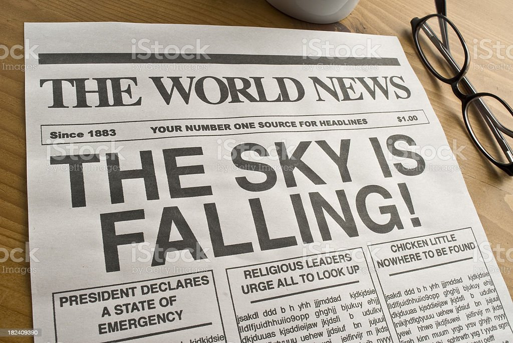 News Headlines Picture: The Sky Is Falling Newspaper Headline Stock Photo & More