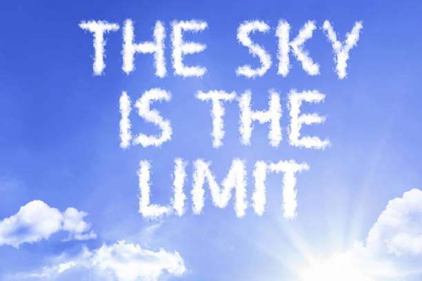 the sky is the limit - danke zitate stock-fotos und bilder