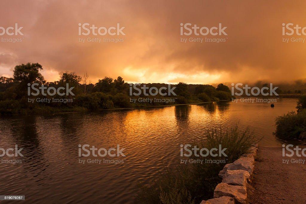 The Sky ist burning stock photo