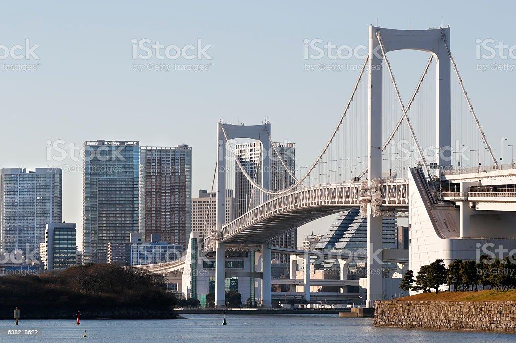 The sky of Odaiba stock photo