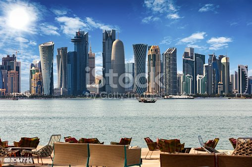 istock The Skyline of Doha at noon 697044774