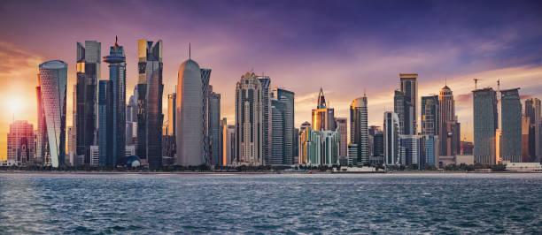 l'horizon de doha - qatar photos et images de collection