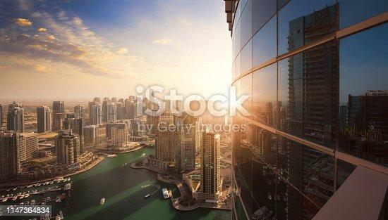 istock The skyline of Dubai Marina at sunset 1147364834