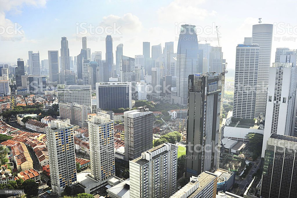 The skyline of Singapore during the daytime royalty-free stock photo