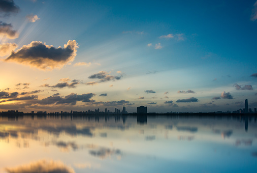 istock The skyline of sunrise 1032667062