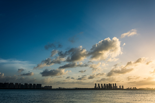 istock The skyline of sunrise 1057918972
