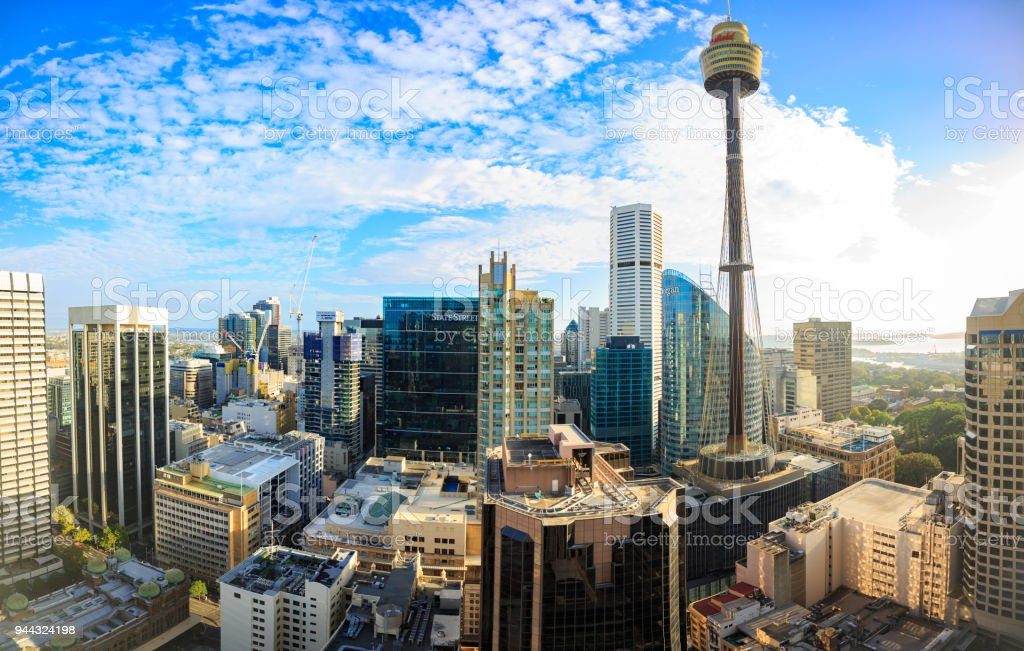 The skyline of Sydney, Australia, showing offices and the CBD stock photo