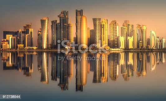 istock The skyline of West Bay and Doha downtown, Qatar 912738544
