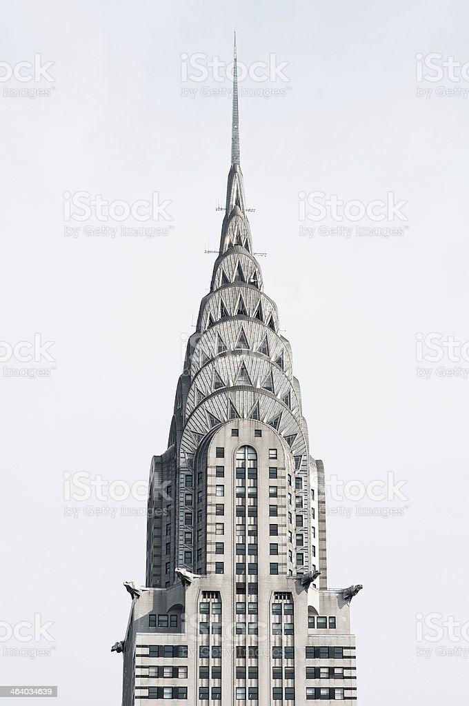 The skyscraper Chrysler Building in New York  stock photo