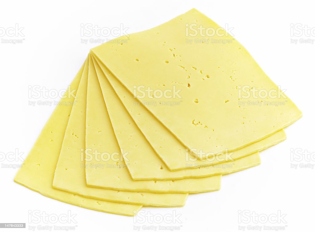 the slices of gouda royalty-free stock photo