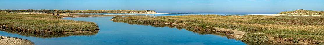 The Slufter, a salt marsh plain on the island Texel, West Frisian Islands, North Holland, Netherlands