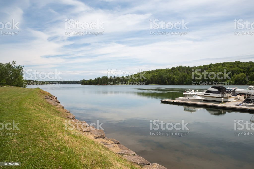 The small harbor of Montague on Prince Edward Island stock photo