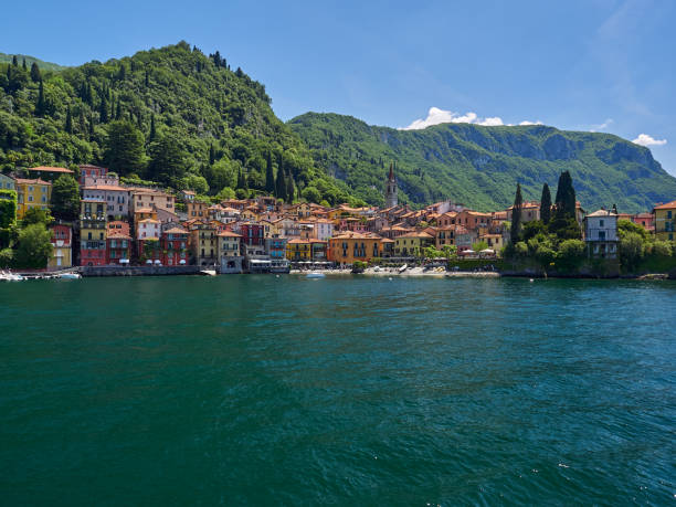 The small town of Varenna, Lake Como, Italy stock photo