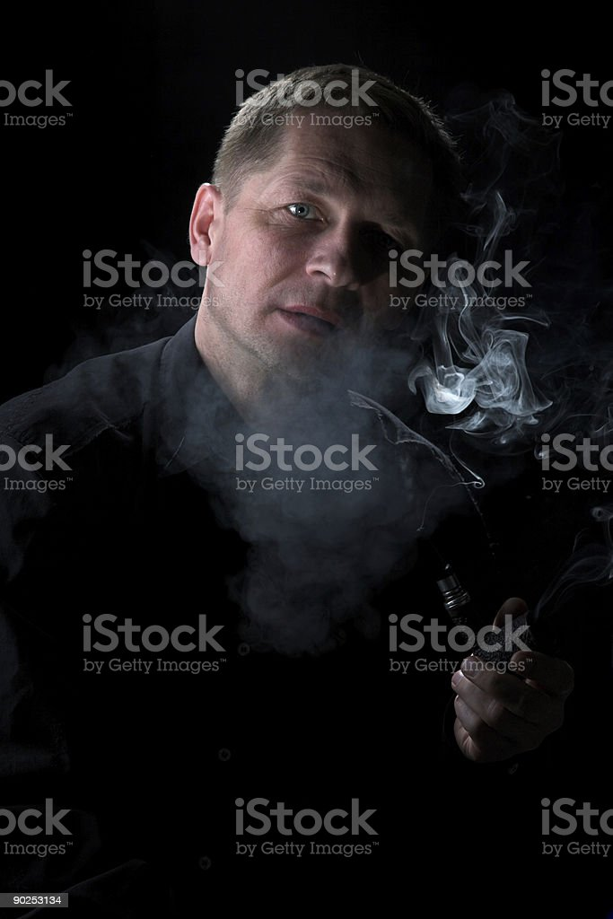 The smoker royalty-free stock photo