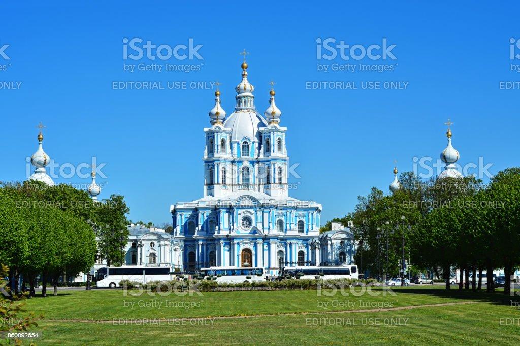 The Smolny Cathedral. stock photo