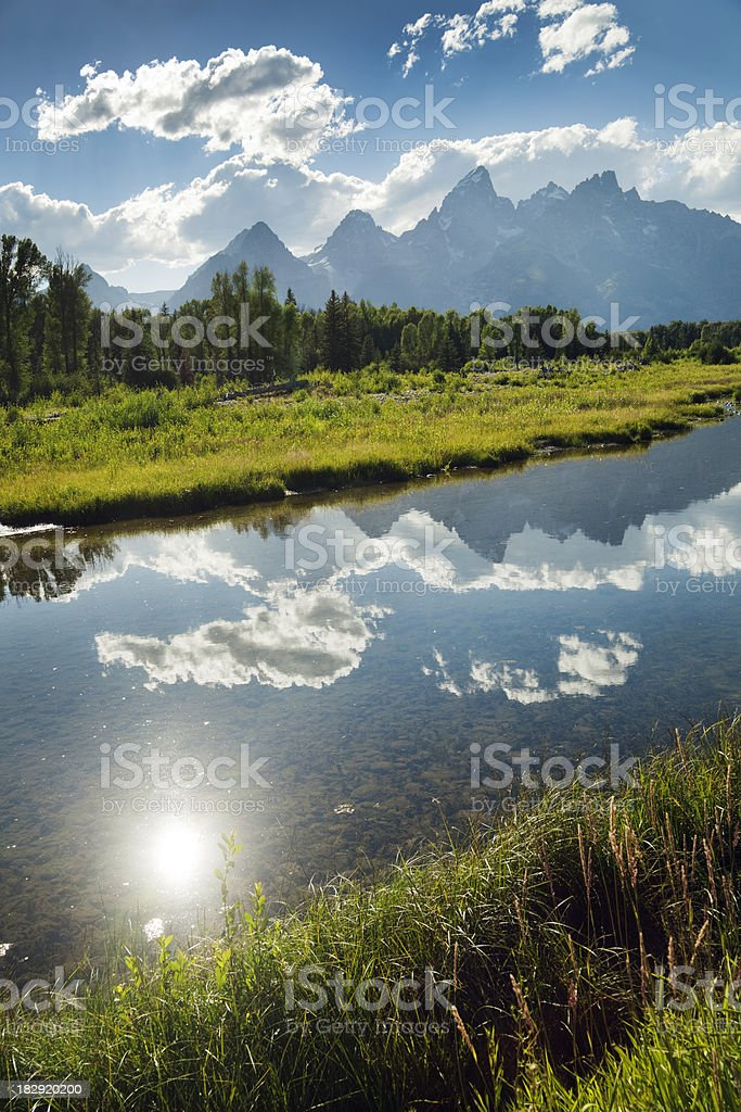 The Snake River in Grand Teton National Park royalty-free stock photo