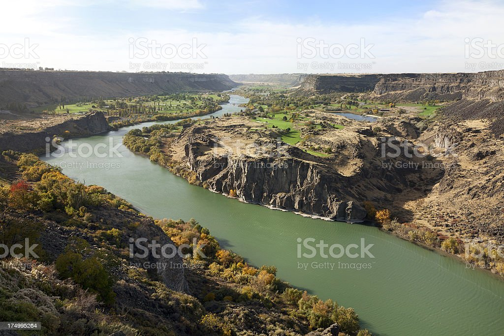 The Snake River in Idaho royalty-free stock photo