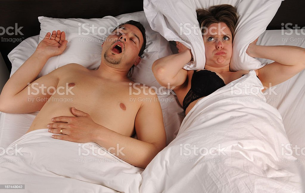 The snoring royalty-free stock photo
