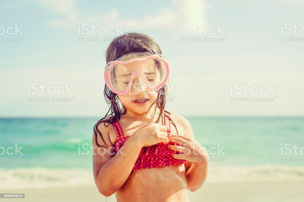The Snorkel Kid stock photo
