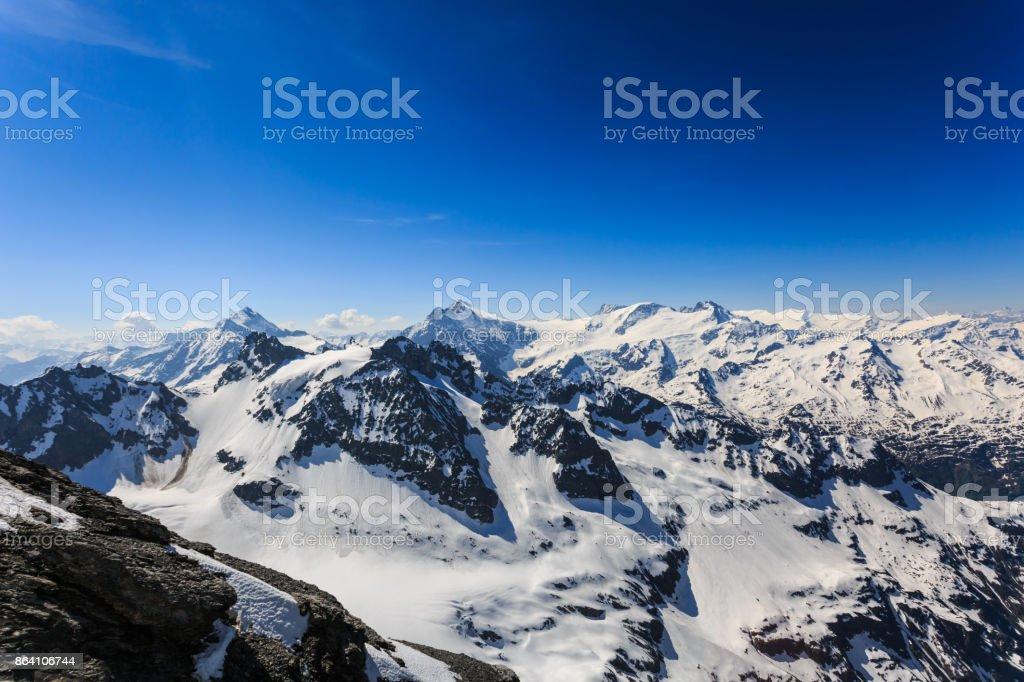 The snow mountain range mountain range from the Titlis is a mountain. royalty-free stock photo