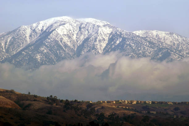 The Snowcapped Peak of Mt. Baldy stock photo