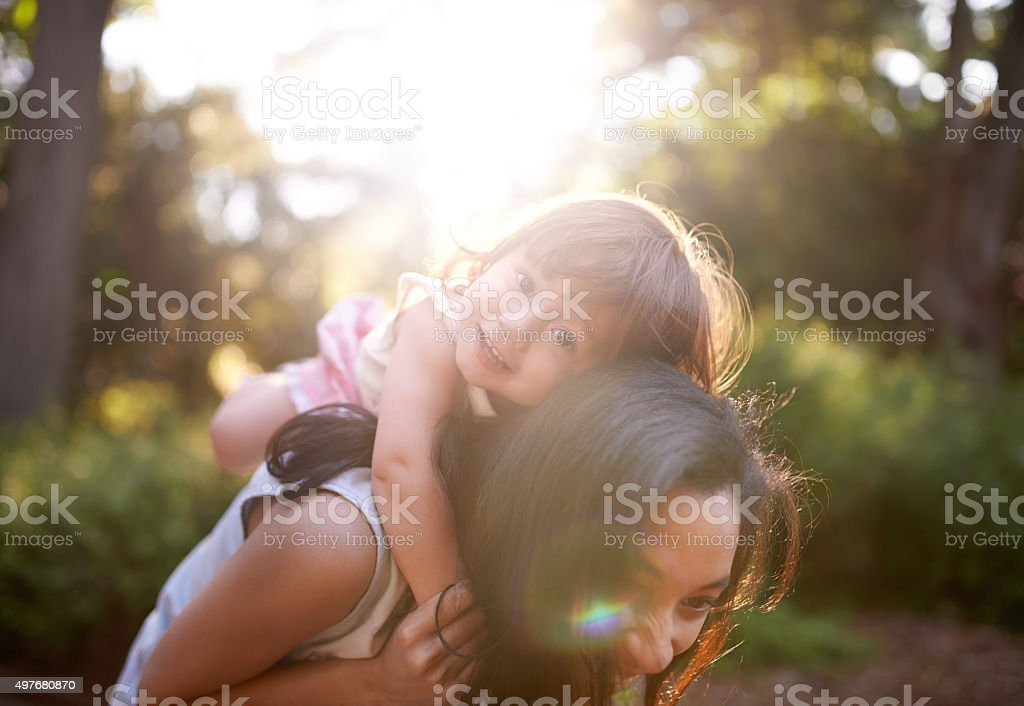The snuggle is real stock photo