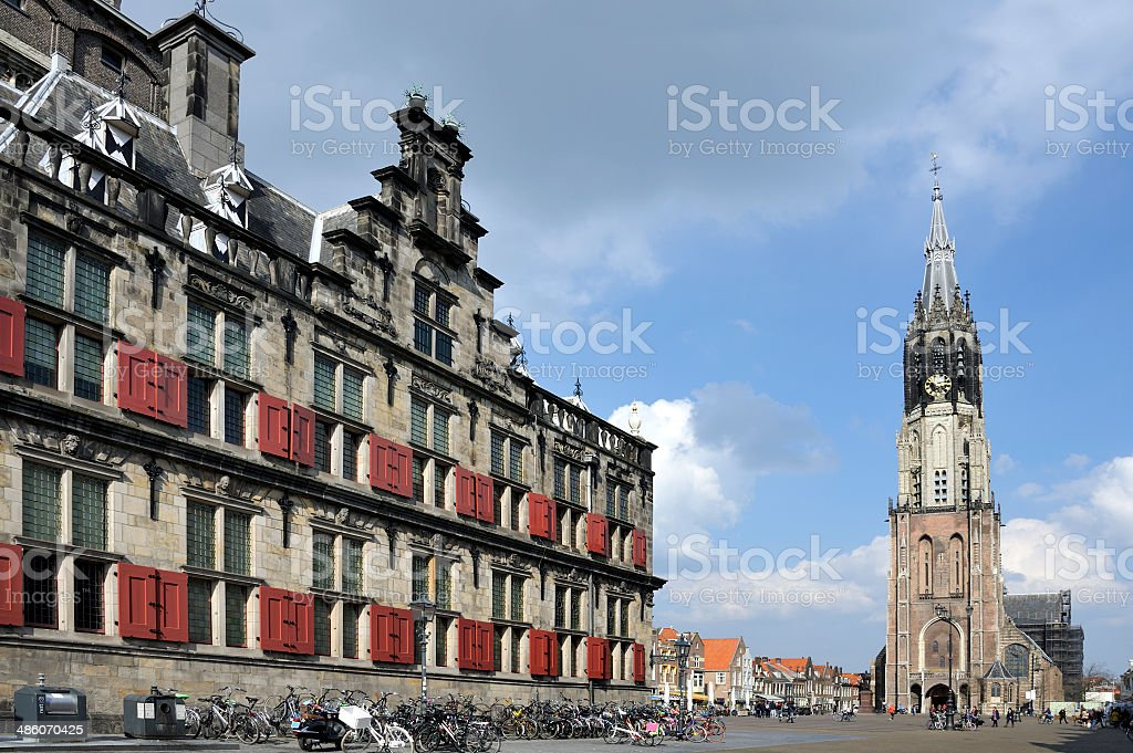 The so called Nieuwe Kerk in Delft, Holland stock photo