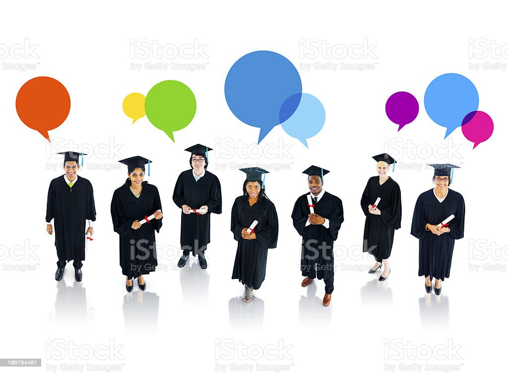 The Social Issues of Graduating Students royalty-free stock photo