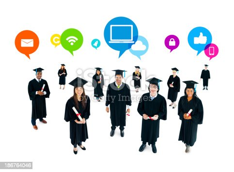 istock The Social Networking of Graduating Students 186764046