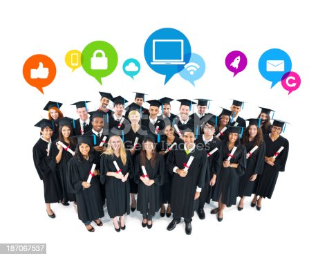 istock The Social Networking of Graduating Students 187067537
