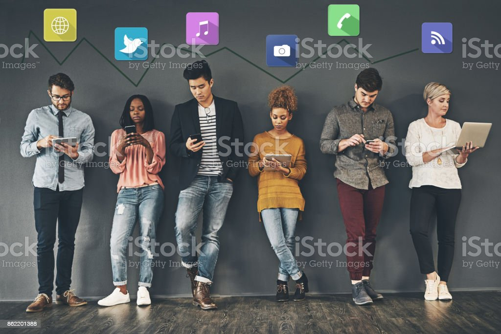 The social way of networking stock photo