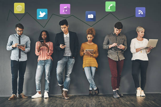 the social way of networking - millennials stock photos and pictures