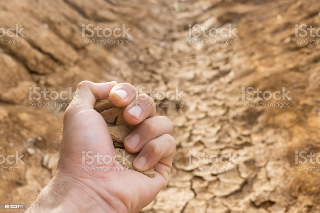 The soil is cracked - Royalty-free Abstract Stock Photo