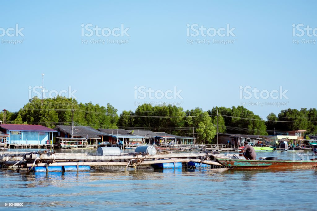 the Soil-less Village is located at Tambon Bang Chan, Chanthaburi, Thailand with soft-focus and over light in the background stock photo