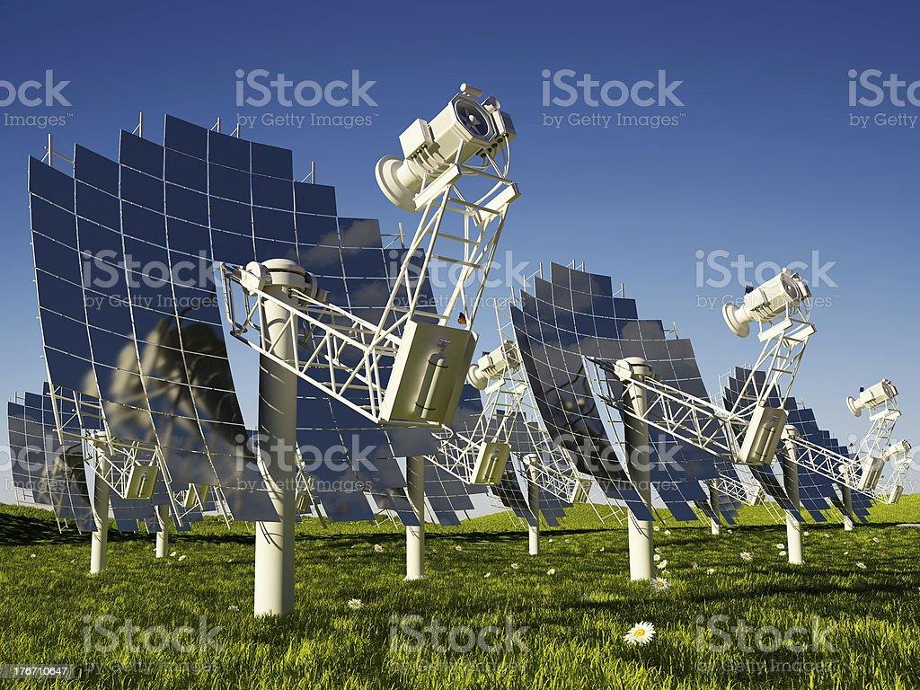 The solar battery stock photo