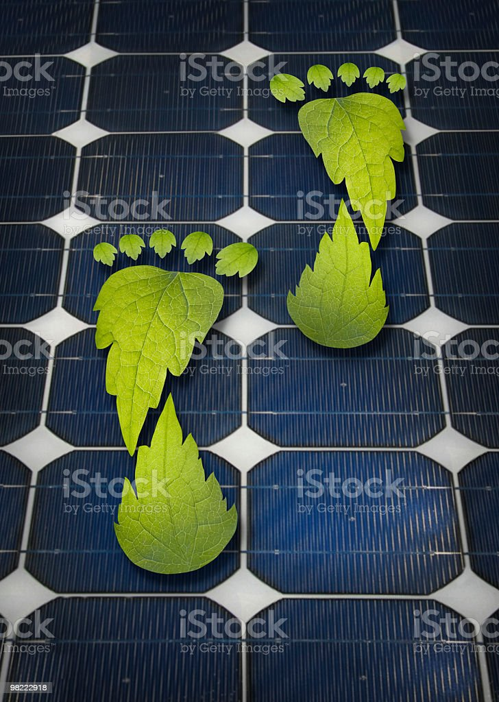 the solar footprint royalty-free stock photo