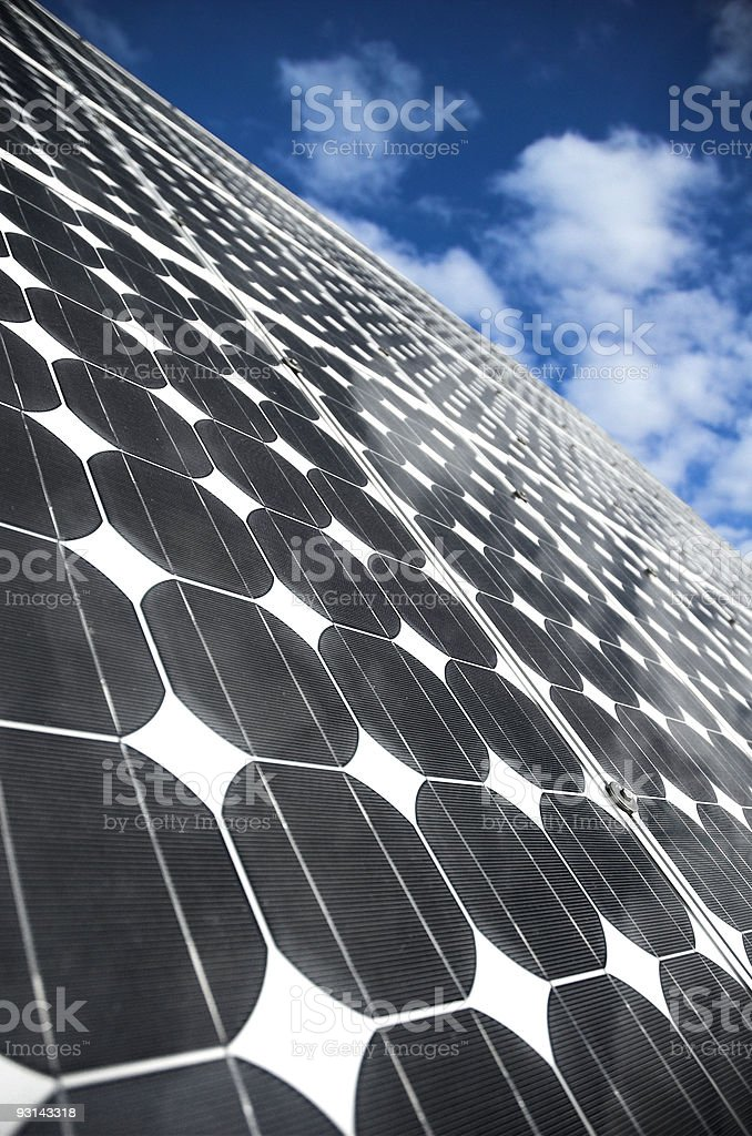 The Solar Panels 2 royalty-free stock photo