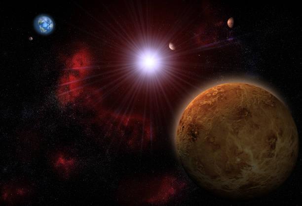 le système solaire - venus photos et images de collection