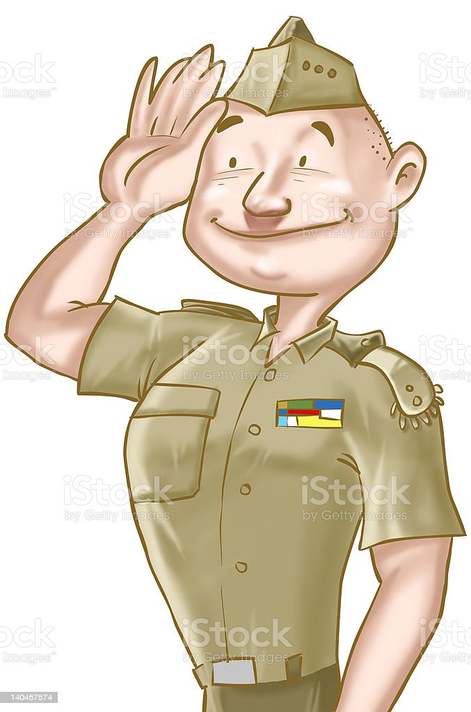 The Soldier royalty-free stock photo
