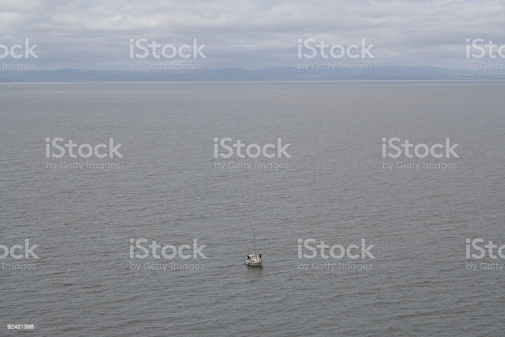 The Solitude of Fishing royalty-free stock photo