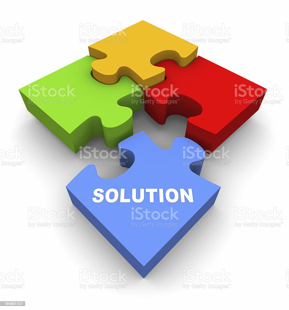 The Solution royalty-free stock photo